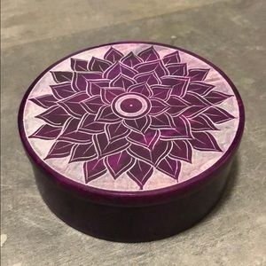 Other - 3/$25! Round Soapstone Box - Purple